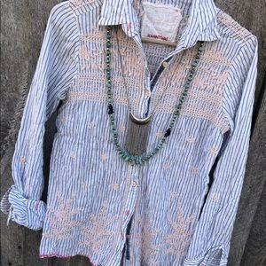 Johnny Was 3J Workshop S embroidered blouse boho